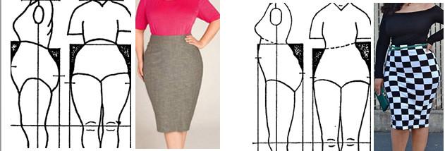 как сделать выкройку юбки на крутые бедра