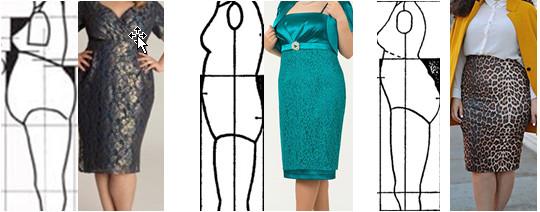как сделать выкройку юбки на фигуру с животом