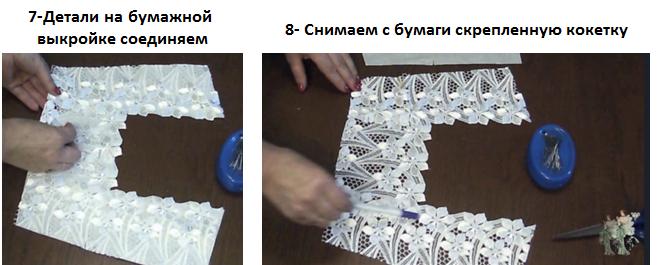 Соединение деталей кокетки